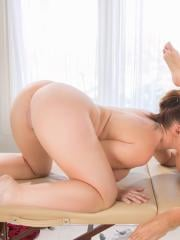 Horny girls Edyn Blair and Jill Kassidy give each other a pussy massage