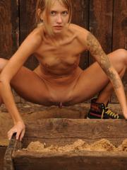 "Country girl Jenny gives you her tight pussy in ""On Farm"""