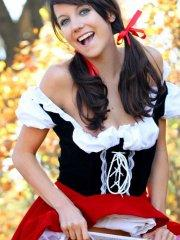 Pictures of teen Andi dressed as little red riding hood
