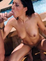 Pictures of Ann Marie Rios getting wet and fucked