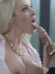 Busty secretary Victoria Summers fucks her boss in his office