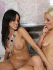 Breanne Benson and Lexi Swallow pleasure each other sexually