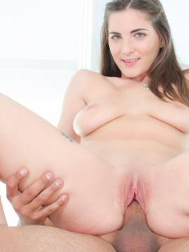 Busty brunette Molly Jane tries out porn and has sex on camera for the first time