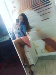 Hot coed Christa Flare takes some sexy selfies