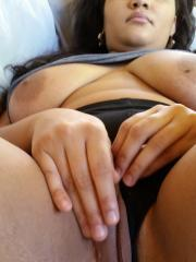 Chubby GF shows off her huge tits and big round ass