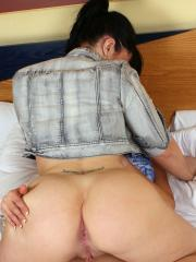 Hot curvy lesbians Vickie and Nicola get it on in bed