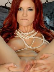Redhead babe Jayden Cole gets naked and shows you her delicious ass and pussy