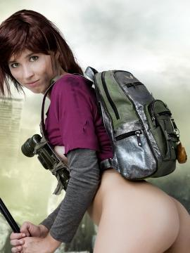 Cute cosplay girl Stacy is going to win the war in Resistance