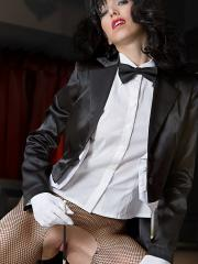Naughty cosplayer Angela dresses up as a very sexy Zatanna