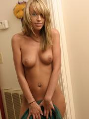 Super cute and horny Daisy in just a towel