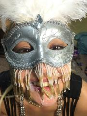 Hot college coeds put on masks and fuck each other in the dorm