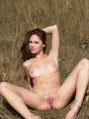 """Brunette babe Barbara Vie gets naked in """"In The Field"""""""