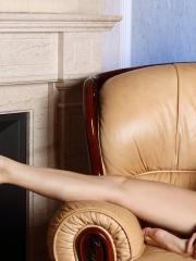 Pictures of femjoy's Danica naked for you on the couch