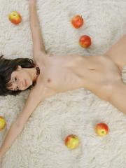 Pictures of Ingrid showing her naked body on the floor