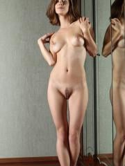 Pictures of Danica getting completely naked with a mirror