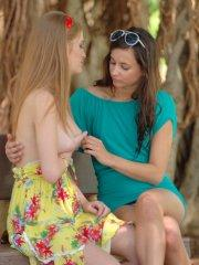 Pictures of Faye Reagan getting kinky with her girlfriend