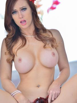 """Redhead babe Dani Jensen strips for you in """"Her Lacy Lingerie"""""""