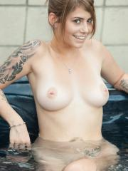 Hailey Leigh invites you to join her for some naked fun in the hot tub