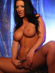 Pictures of busty girl Jayden showing you her pink pussy