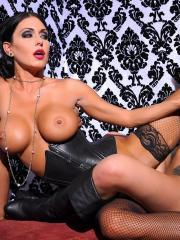 Jessica Jaymes invites Randy Wright over for some wild lesbian action