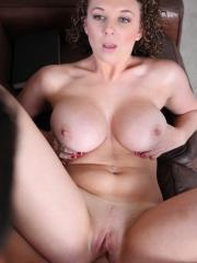 Busty coed Brooke Wylde gets fucked hard on the couch