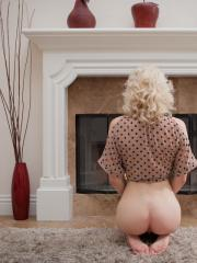 Blonde babe Lily L masturbates for you in Open Fire