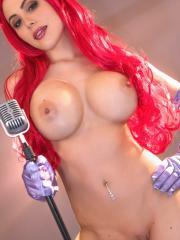 Hot girl Katie Banks dresses up as sexy Jessica Rabbit