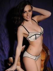 Lauren Wood strips her cute lingerie and invites you to play
