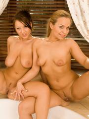 Hot teens Mia and Chantel pleasure each other sexually