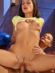 Pictures of Little Caprice enjoying some cock deep inside