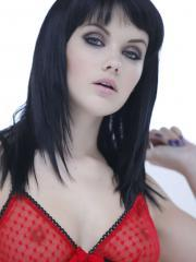 Mellisa Clarke strips her red and black lingerie just for you