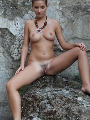 Brunette beauty Edwige A invites you to join her somewhere private