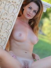 """Gorgeous girl Odara gets naked and wet outside in """"Loddie"""""""