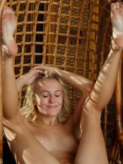 """Blonde babe Aislin gets naked for you in """"Ammra"""""""