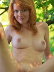 """Redhead babe Mia Sollis hangs out nude in """"Helidae"""""""