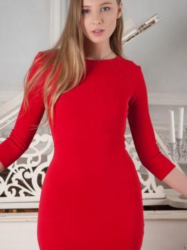 """Nimfa Strips Out Of Red Dress in """"Taelar"""""""