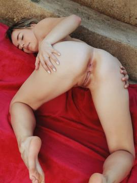 """Jillean strips out of her red elegant dress in """"Red Love"""""""
