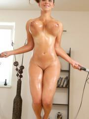 Busty blonde Katerina scores some free rent with her curvy body