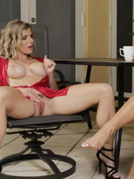 Cory Chase and Evelin Stone in The Nympho MILF Awakens