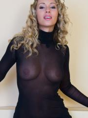 Blonde babe Roxy shows you what's up her dress