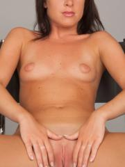 Brunette girl Franka gives you her tight pussy in the studio