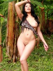 Natalia Spice goes to the jungle and gets rid of her cave girl outfit