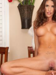 August Ames is the angel of your dreams as she fingers her tight asshole