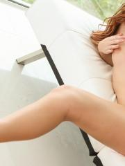 Redhead beauty Karlie Montana gets fucked hard on the couch