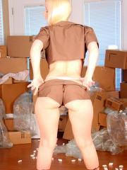 Teen model Sexy Patty Cake shows just how sexy packing boxes can be