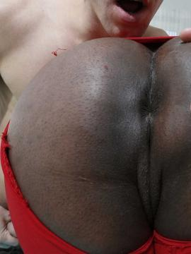 Thick ebony babe Layton Benton bounces her big ass and boobs on a hard cock