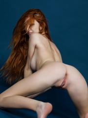 """Redhead babe Michelle stripping and posing nude in """"Urdinak"""""""
