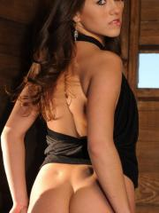 Watch as Shyla strips naked in a hut at the public wildlife park