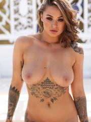 Beautiful babe Mica Martinez teases by the pool