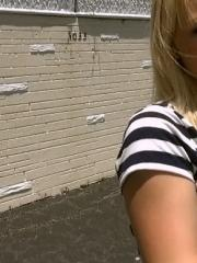 Blonde amateur Arrow Star gets picked up and fucked hard